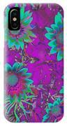 Pop Art Daisies Aqua IPhone Case