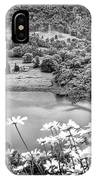Daisies At Queens View In Greyscale IPhone Case
