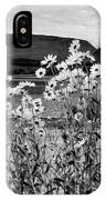 Daisies By The Roadside At Loch Linnhe B W IPhone Case