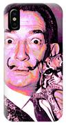 Dali With Ocelot And Cane IPhone Case