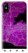 Dalian Street Map - Dalian China Road Map Art On A Purple Backgro IPhone Case