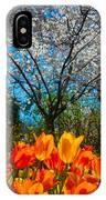 Dallas Arboretum Tulips And Cherries IPhone Case