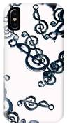 Dance Of The Treble Clef  IPhone X Case