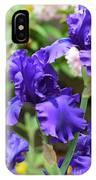 Dancing Blue Irises IPhone Case