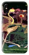 Dancing Flamingos  IPhone Case
