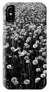 Dandelion Field In Black And White IPhone Case