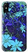 Dandy Digital Daisies In Blue IPhone Case