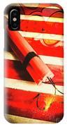 Danger Bomb Background IPhone X Case