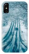 Dangerous Slippery And Icy Road Conditions IPhone Case