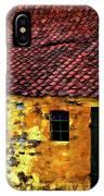 Danish Barn Watercolor Version IPhone Case