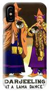 Darjeeling, Lama Dance Musicians, India IPhone Case