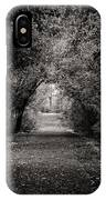 Dark Path In Black And White IPhone Case