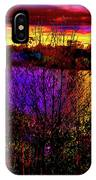 Dark Psychedelic Sunset IPhone Case