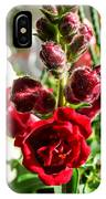 Dark Red Fancy Snapdragon IPhone Case