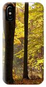 Dark Trunks Bright Leaves IPhone Case