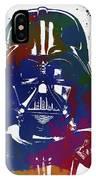 Darth Vader Paint Splatter IPhone Case
