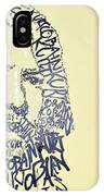 Dave Grohl Word Portrait With The Word Kurt Cobain IPhone Case