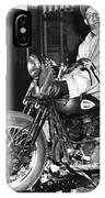 Dave On A Harley Tulare Raiders Mc Hollister Calif. July 4 1947 IPhone Case