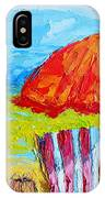 Day At The Beach - Modern Impressionist Knife Palette Oil Painting IPhone Case
