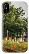 Day Lilies By A Church  IPhone Case