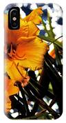 Day Lilies In  Space IPhone Case