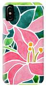 Day Lilies In Stained Glass IPhone Case