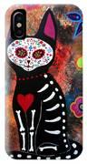 Day Of The Dead Cat El Gato IPhone Case