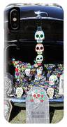 Day Of The Dead Classic Car Trunk Display  IPhone Case