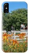 Daylilies And Oxen Wagon IPhone Case