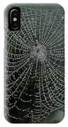 Db6325-dc Spiderweb On Sonoma Mountain IPhone Case