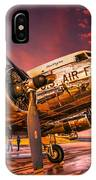 Dc-3 In Surreal Evening Light IPhone Case
