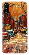 De Bullion Street Montreal IPhone Case