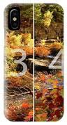 Dead River Falls Marquette Michigan Panoramic Map IPhone Case