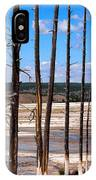Dead Trees Standing In Hot Springs Within Yellowstone National P IPhone Case
