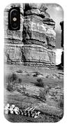 Death On Notom-bullfrog Road - Capitol Reef - Bw IPhone Case