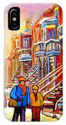 Debullion Street Winter Walk IPhone Case