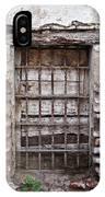 Decaying Wall And Window Antigua Guatemala 3 IPhone Case