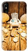 Deckchairs And Seashells IPhone Case