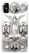 Declaration Of Independence 1884 Poster Restored IPhone Case