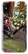 Decorated Bicycle. Amsterdam. Netherlands. Europe IPhone Case