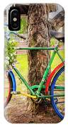 Decorated Bicycle In The Park IPhone Case