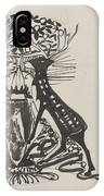 Decorative Design With Two Standing Deer, Carel Adolph Lion Cachet, 1874 - 1945 IPhone Case