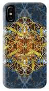 Decorative Gemstone Sacred Geometry Flower Of Life   IPhone Case