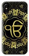 Decorative Gold Ek Onkar / Ik Onkar  Symbol IPhone Case
