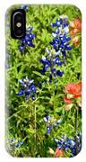 Decorative Texas Bluebonnets Meadow Digital Photo G33117 IPhone Case