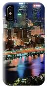 Deep Blue Night In Pittsburgh IPhone Case