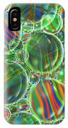 Deep Green Marbles Shower Curtain IPhone Case