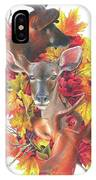 Deer And Fall Leaves IPhone Case