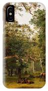 Deer At The Edge Of A Wood IPhone Case