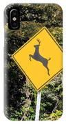 Deer Crossing Sign 2 IPhone Case
